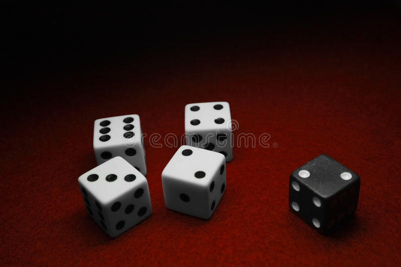 Dice Over Red Royalty Free Stock Photo