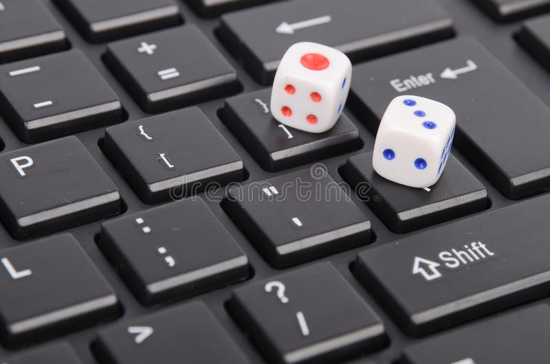 Dice Rolled Royalty Free Stock Photos