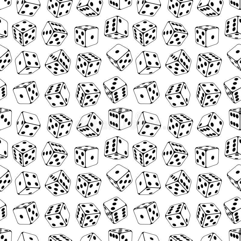Free Dice Seamless Background Pattern Stock Image - 19971611