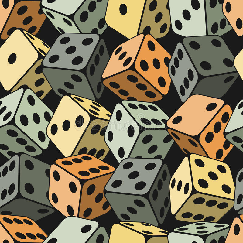 Free Dice Seamless Background Pattern Royalty Free Stock Image - 32745336