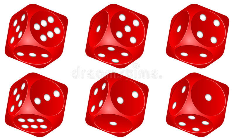 Download Dice set stock vector. Image of vector, illustration - 22340687
