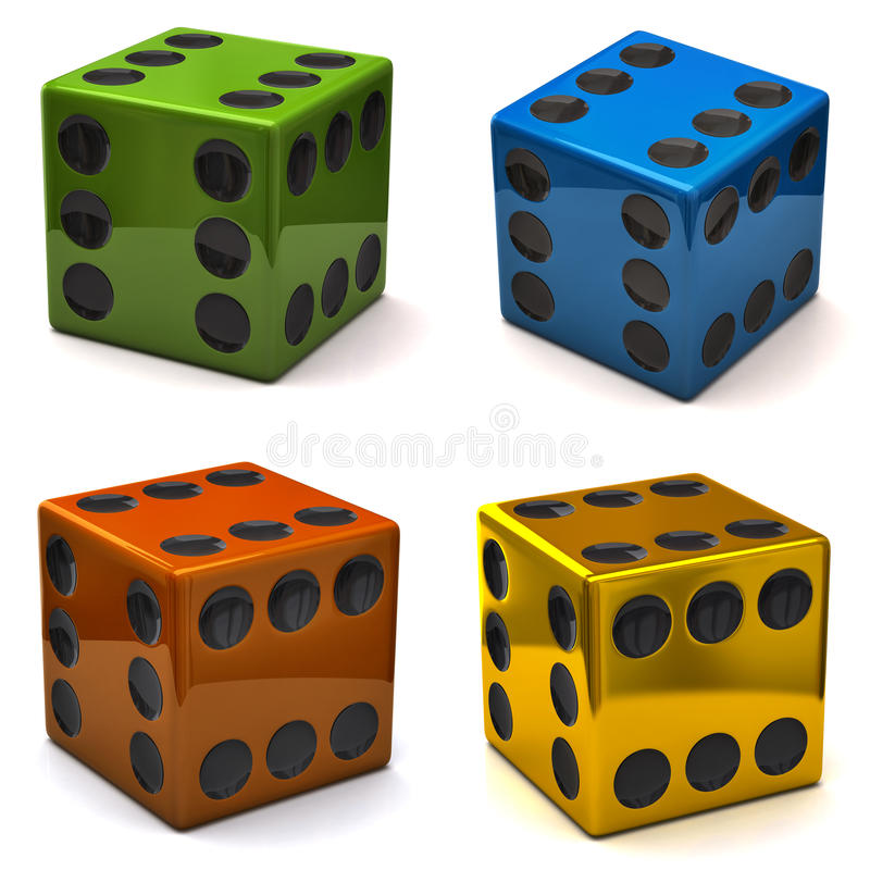 Download Dice with six on all sides stock illustration. Image of dimensional - 26734061