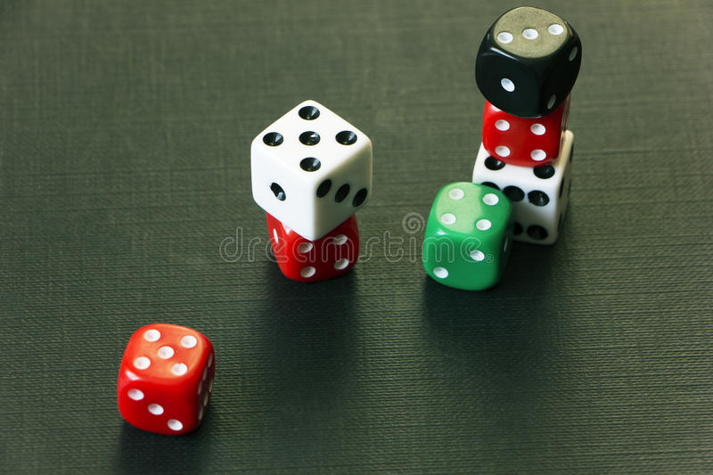 Dice on the table. Risk stock photos
