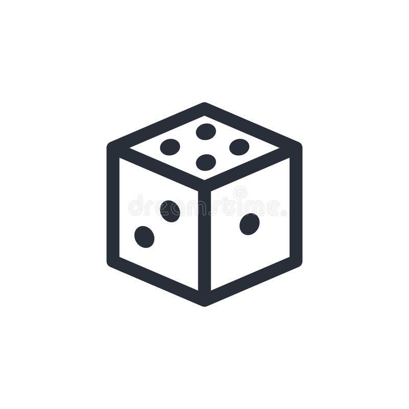 Dice vector icon. Dice vector illustration vector illustration