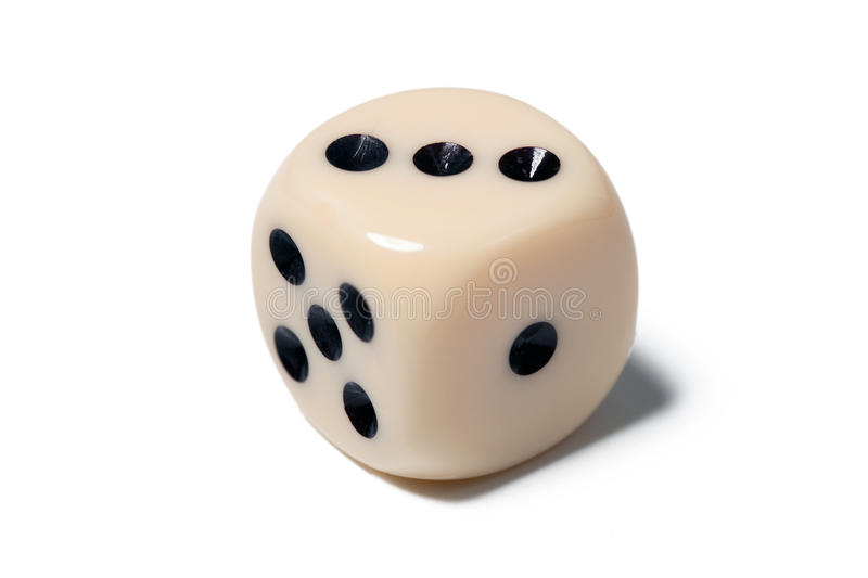 Dice on white stock images