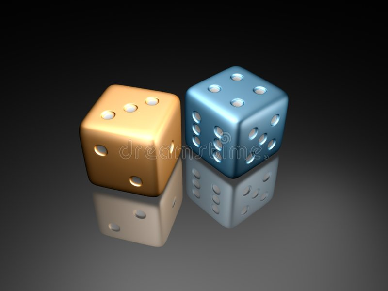 Dice2 stock image