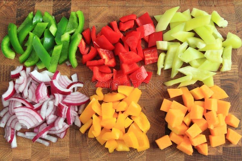 Diced овощи стоковое фото