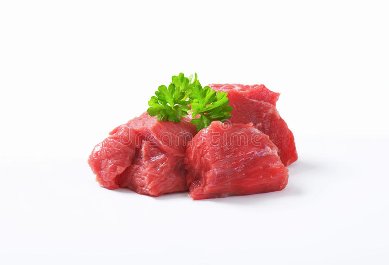 Diced beef stock image