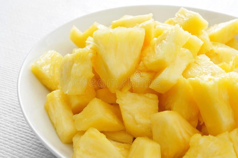 Diced pineapple stock photos