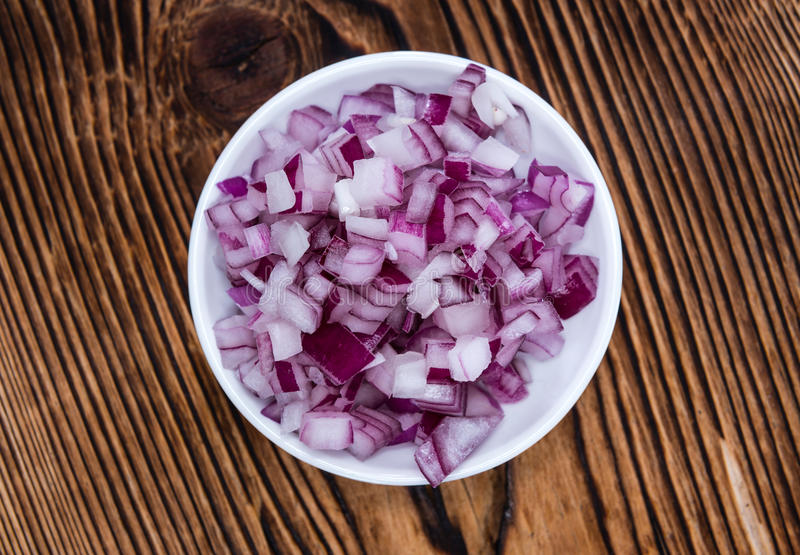 Diced Red Onion (isolated On White) Stock Image - Image of ...