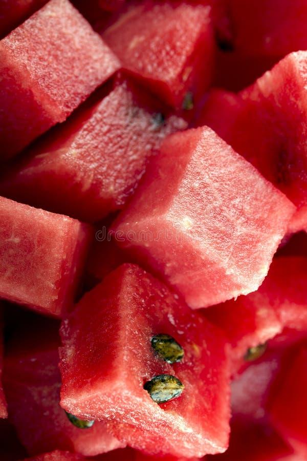 Diced watermelon bio stock photography