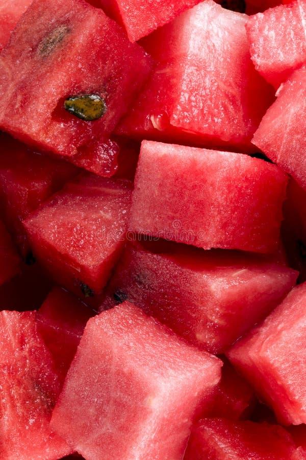 Diced watermelon bio royalty free stock photos
