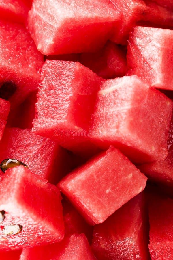 Diced watermelon royalty free stock photos