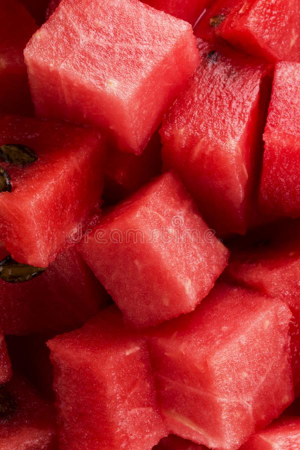 Diced watermelon royalty free stock images