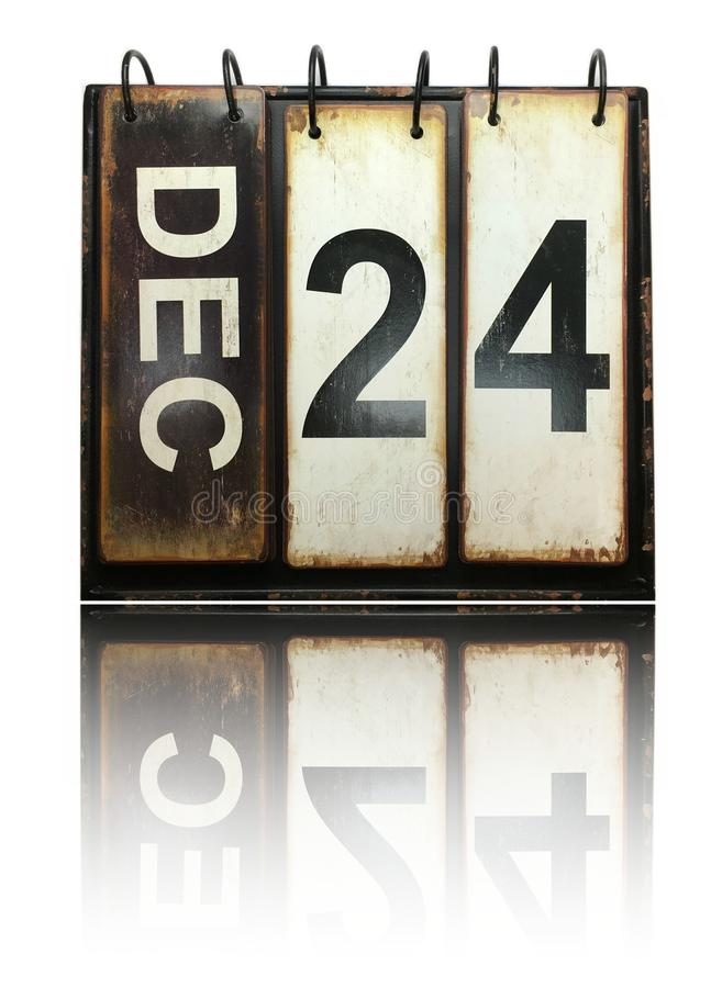 24 dicembre illustrazione vettoriale