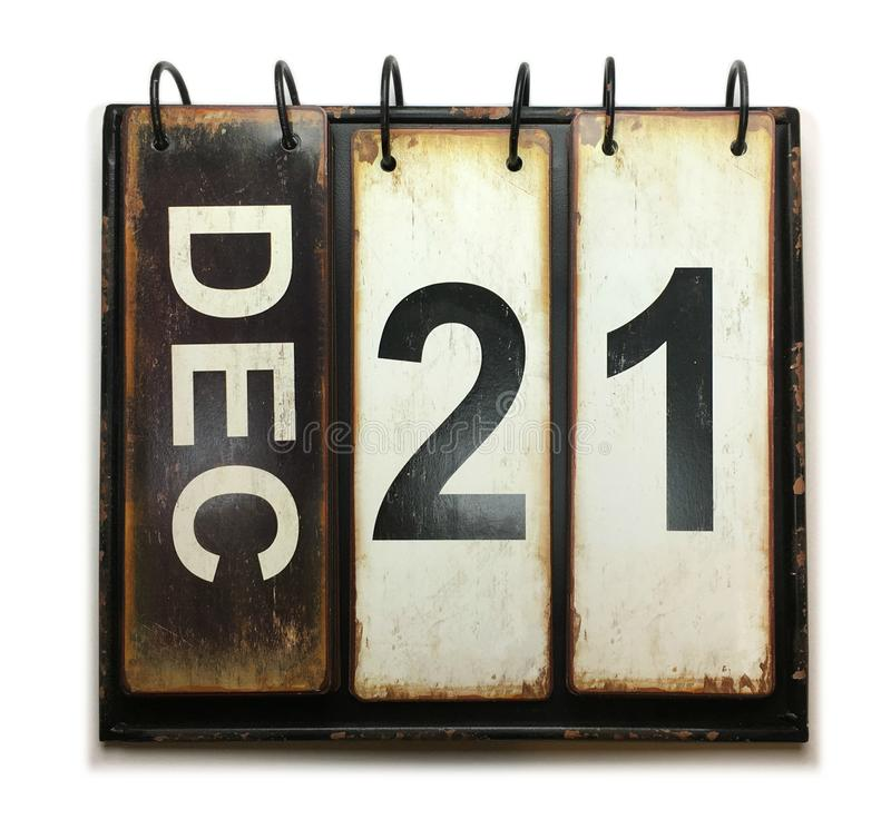 21 dicembre illustrazione vettoriale