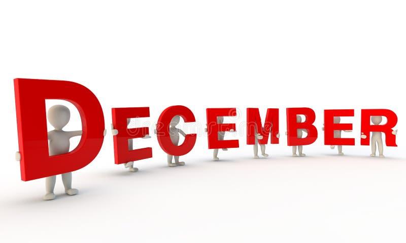 Dicembre illustrazione vettoriale