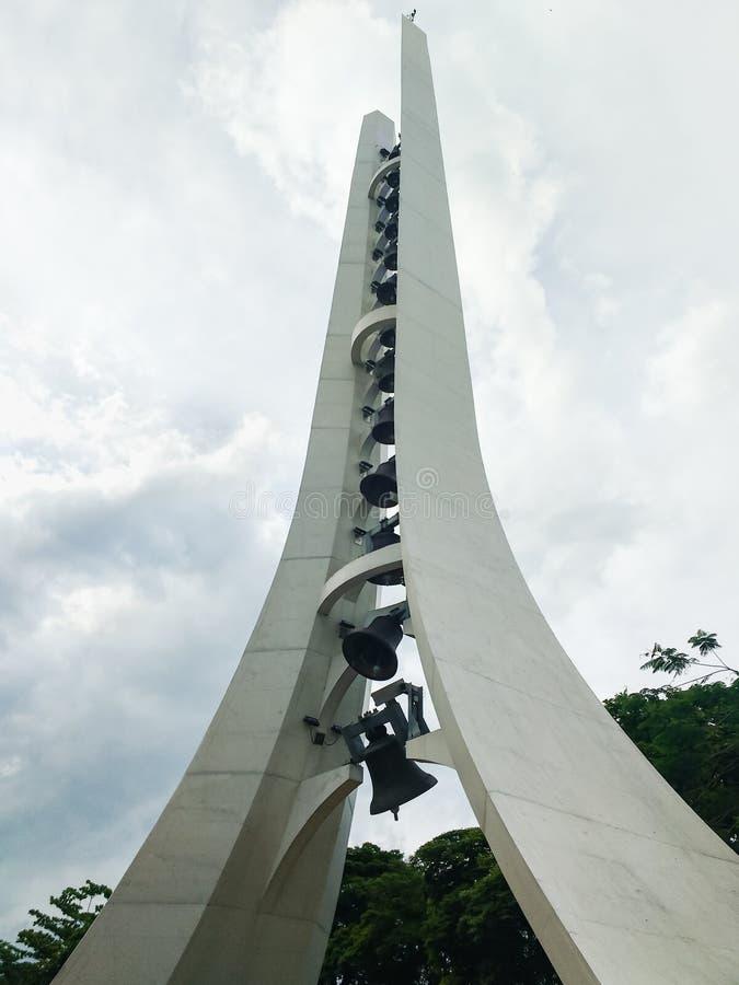 27 dicembre 2018, Aparecida, Sao Paulo, Brasile, santuario nazionale del campanile della nostra signora Aparecida fotografia stock libera da diritti