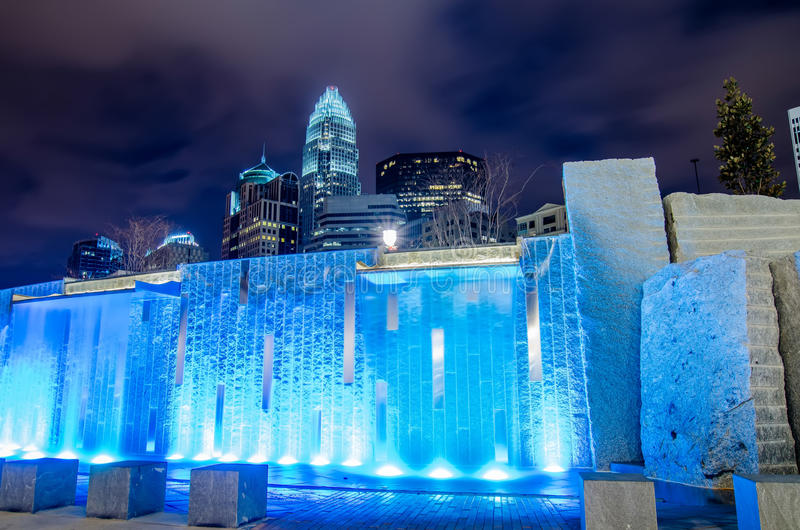 27 dicembre 2014, Charlotte, nc, orizzonte degli S.U.A. - Charlotte vicino alla r immagine stock