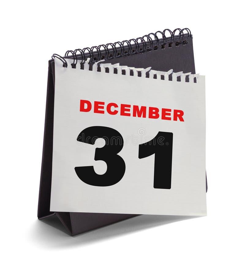 31 dicembre pagina del calendario fotografie stock