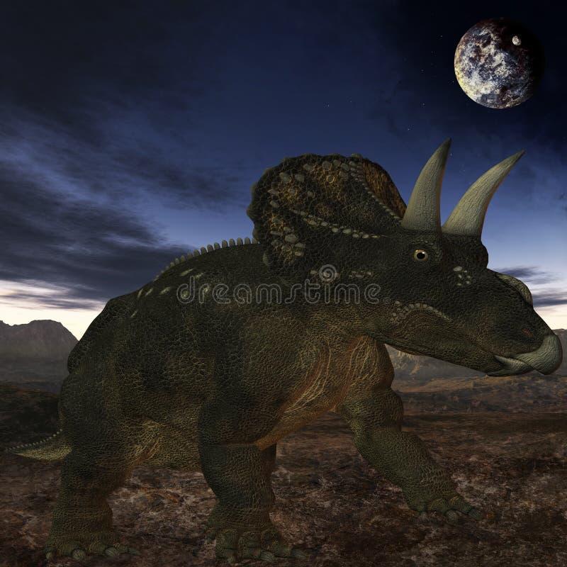 Diceratops-3D Dinosaur vector illustration