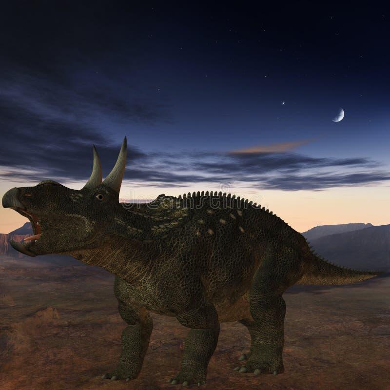 Diceratops-3D Dinosaurus vector illustratie