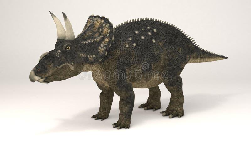 Diceratops-dinossauro ilustração royalty free