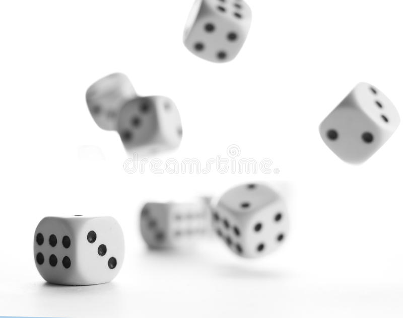 Dices. On a white background stock images
