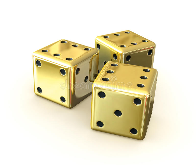 Download Dices stock illustration. Image of chance, gamble, golden - 21322323