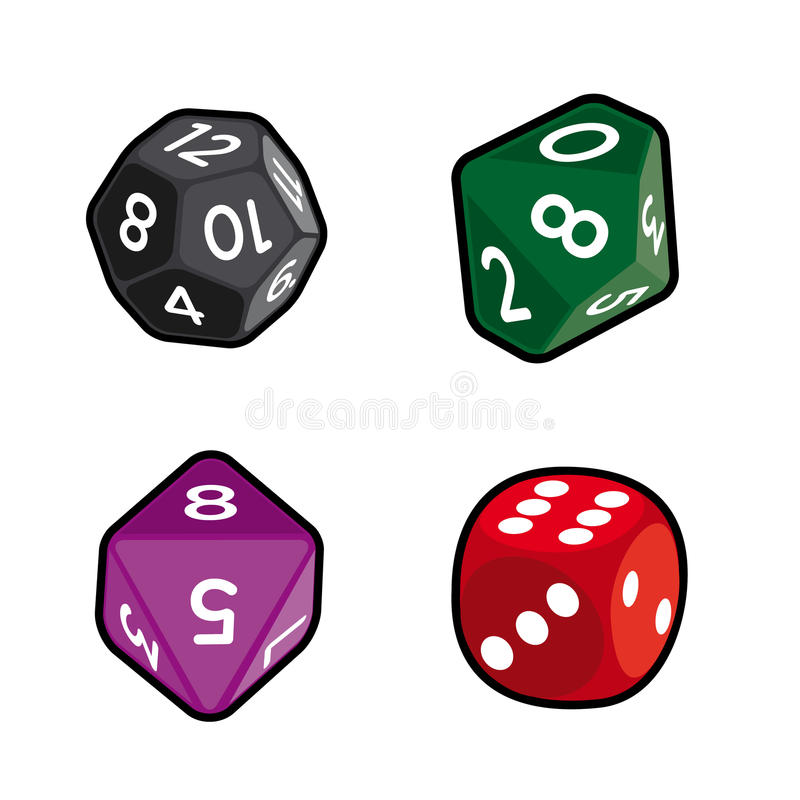 Dices asortyment obrazy royalty free