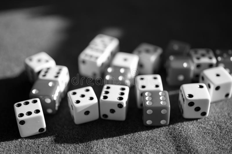 Dices. Close-up of several dices royalty free stock photos