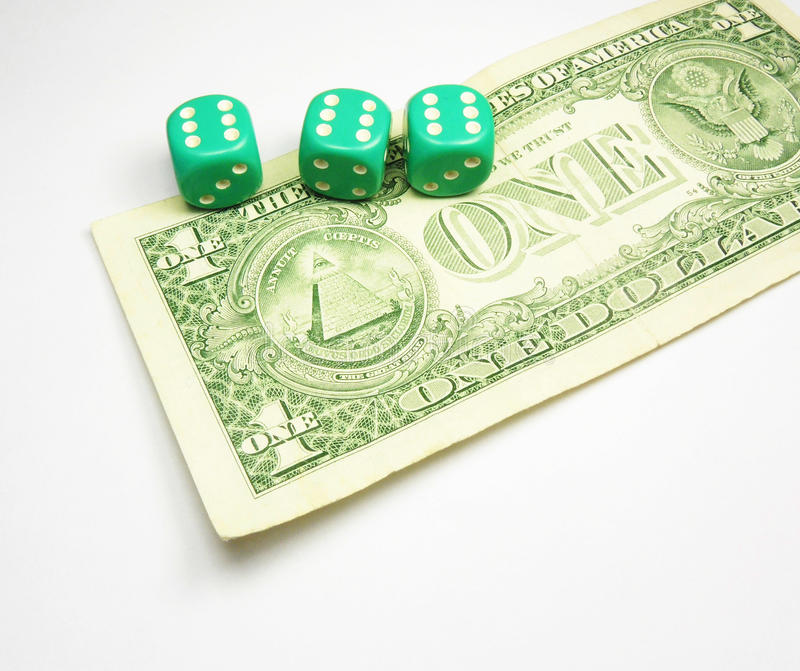 Download Dices On Dollar Royalty Free Stock Photos - Image: 22951188