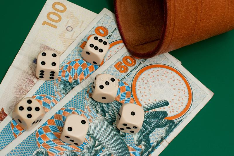Download Dices and money stock photo. Image of denmark, ludomania - 17973036