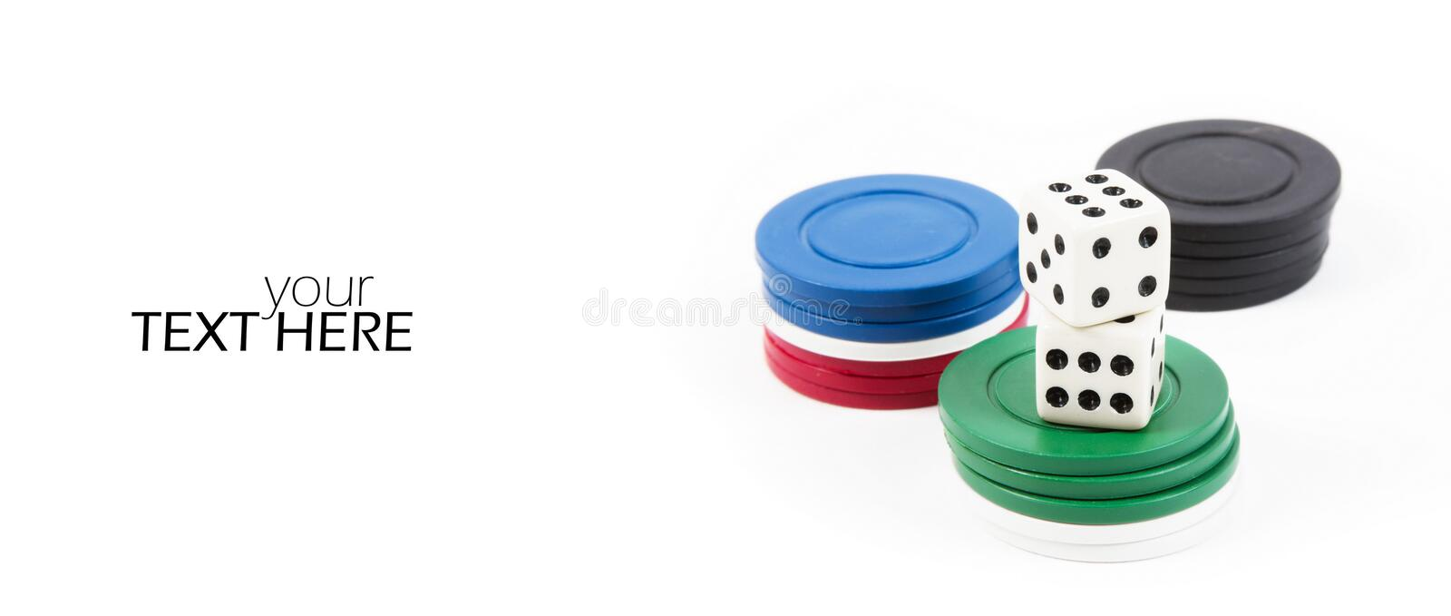 Dices with stakes stock photo