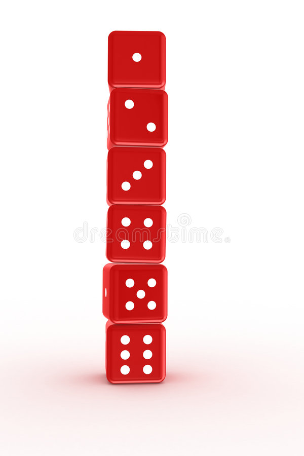 Free Dices Tower Royalty Free Stock Image - 8085326