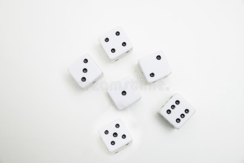Dices on a white background royalty free stock images