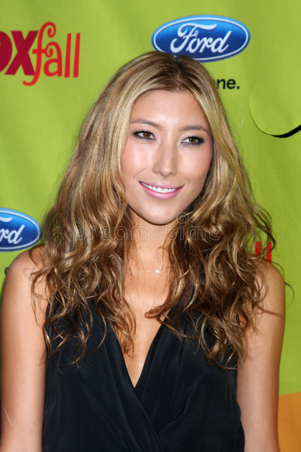 Dichen Lachman. Arriving at the FOX-Fall Eco-Casino Party at BOA Steakhouse in West Los Angeles, CA on September 14, 2009 royalty free stock photos