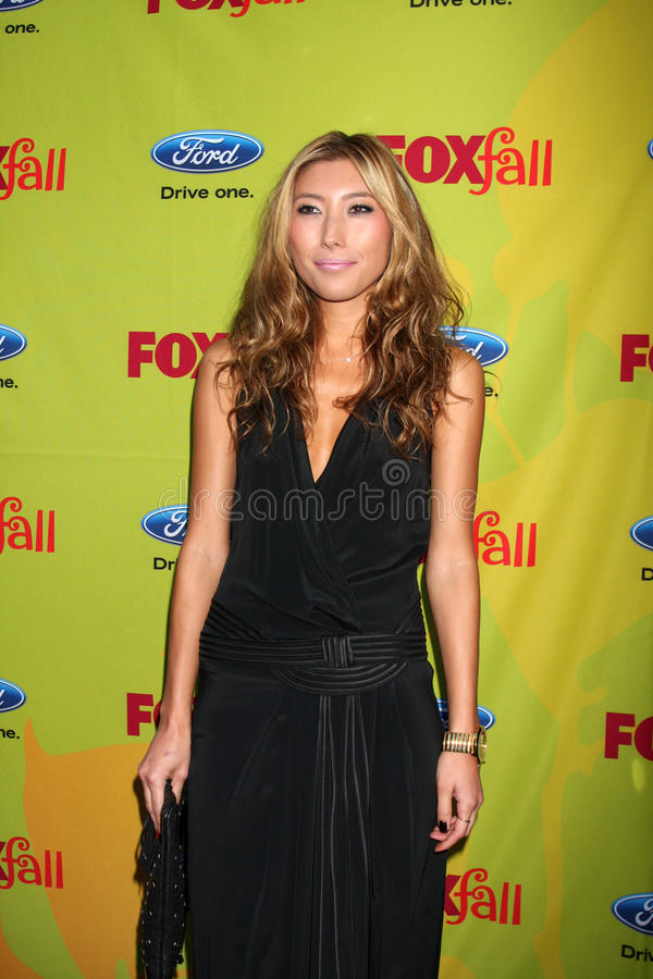 Dichen Lachman. Arriving at the FOX-Fall Eco-Casino Party at BOA Steakhouse in West Los Angeles, CA on September 14, 2009 stock image