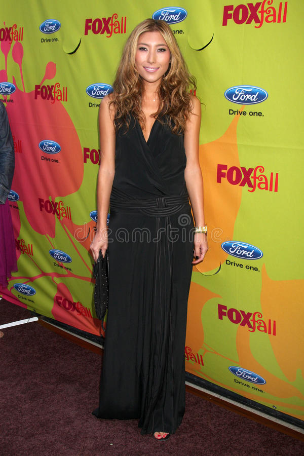 Dichen Lachman. Arriving at the FOX-Fall Eco-Casino Party at BOA Steakhouse in West Los Angeles, CA on September 14, 2009 royalty free stock images
