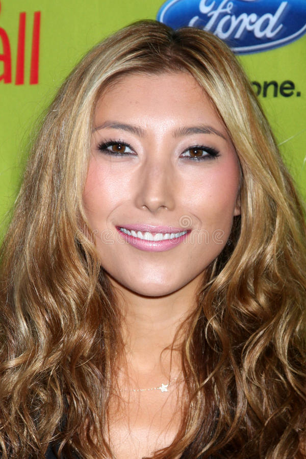 Dichen Lachman. Arriving at the FOX-Fall Eco-Casino Party at BOA Steakhouse in West Los Angeles, CA on September 14, 2009 royalty free stock photo
