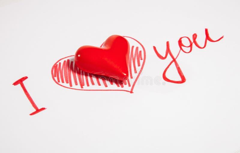 Dichiarazione di amore immagini stock libere da diritti