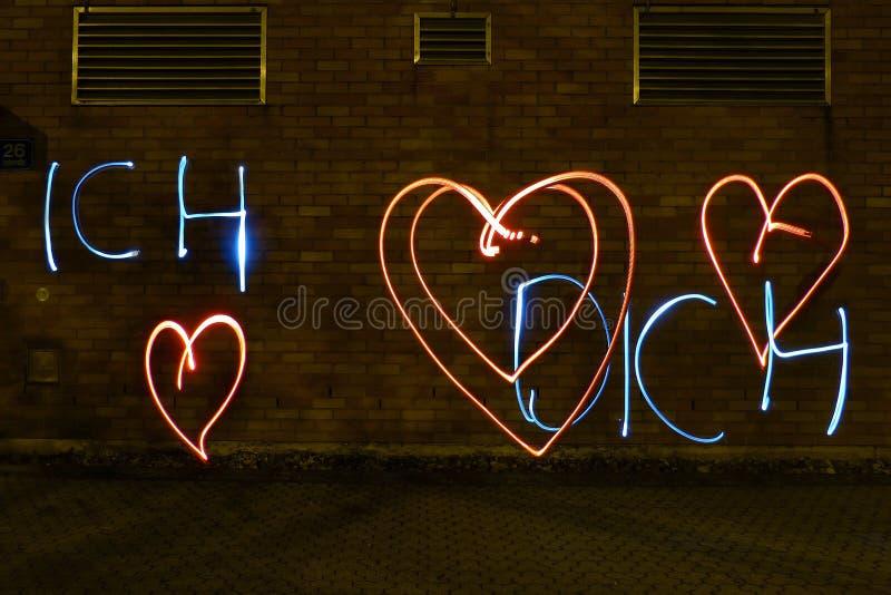 Dichiarazione di amore con luce fotografia stock libera da diritti
