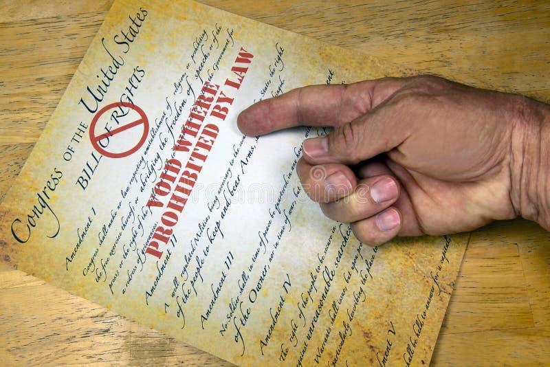 Dichiarazione di Diritti, fotografie stock