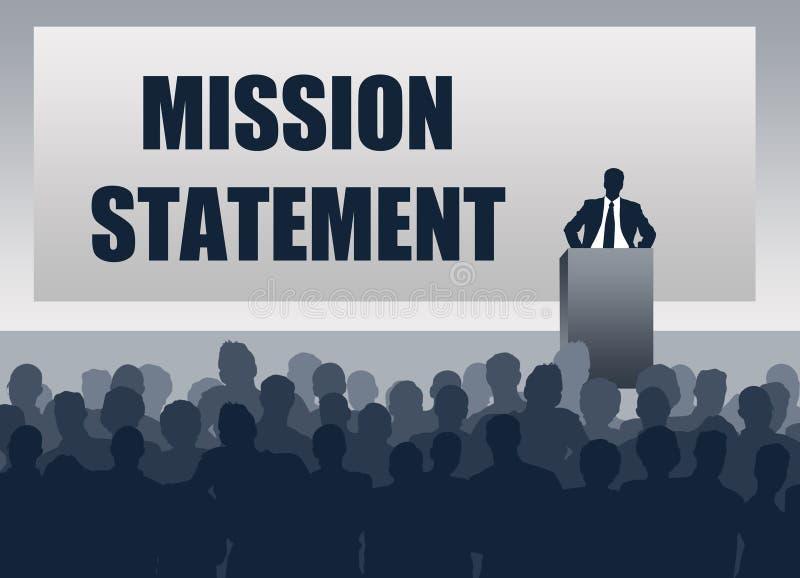 Dichiarazione di missione illustrazione vettoriale
