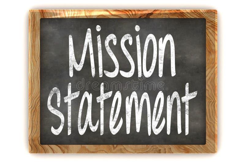 Dichiarazione di missione della lavagna royalty illustrazione gratis