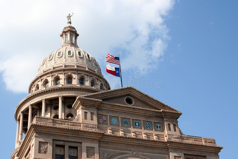 Dichiari Campidoglio che costruisce a Austin del centro, il Texas immagini stock