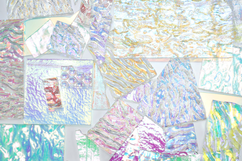 Dichroic Glass Montage stock image