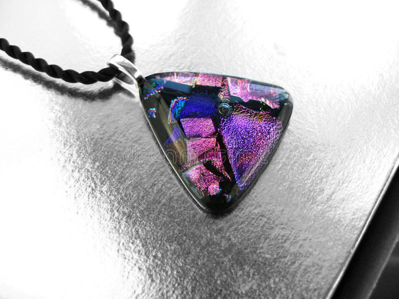 Dichroic Glass Pendant royalty free stock images