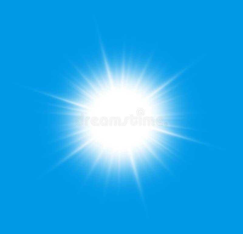 Dicht bij de zon royalty-vrije illustratie