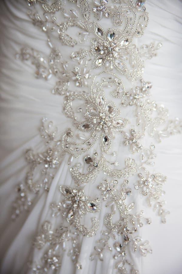 Dicht detail op huwelijkskleding royalty-vrije stock foto's